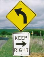 Funny image of confusing signs in yellow and white.JPG