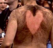 Hairy man wax in the back with a heart shape.PNG