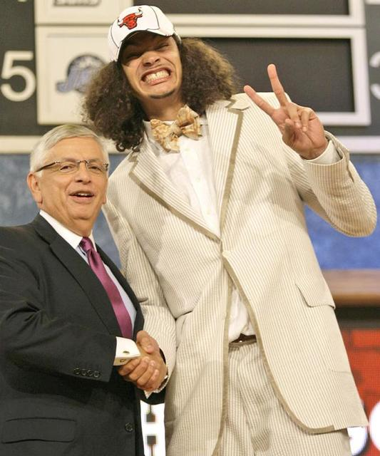 Funny picture of Jokim Noah on NBA Draft Day 2007.jpg