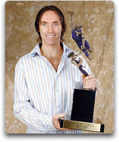 Funny doctored photo of Steve Nash holding a trophy of Kobe Bryant dunking over him.jpg