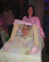 Mom giving birth costume