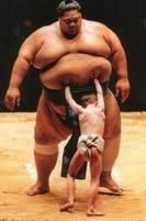 Funny pic of a skinny kid trying to push a sumo wrestler.jpg