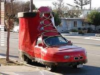 Funny looking red shoe car.jpg