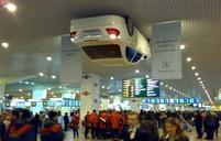 Interesting picture of a car hanging on the ceiling.jpg