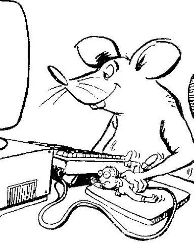 funny cartoon picture with a mouse using human mouse at its computer.jpg