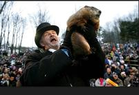 Scared and funny looking groundhog being held up a celebrate as  weather prognosticate.jpg
