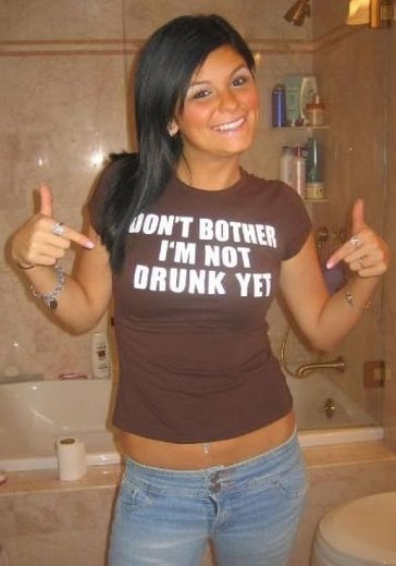 Funny t-shirt that says Don't Bother I'm Not Drunk Yet.jpg