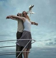 Funny picture of two people doing the Titantic but a bird interjects.jpg