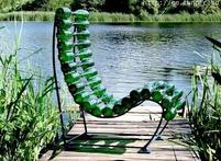 beach chair made out of wine bottle.jpg