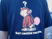 Funny Shirt that warns you not to swallow your gum.jpg