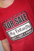 Funny Tshirt that says For Sale My Parents Buy 1 Get 1 Free.jpg